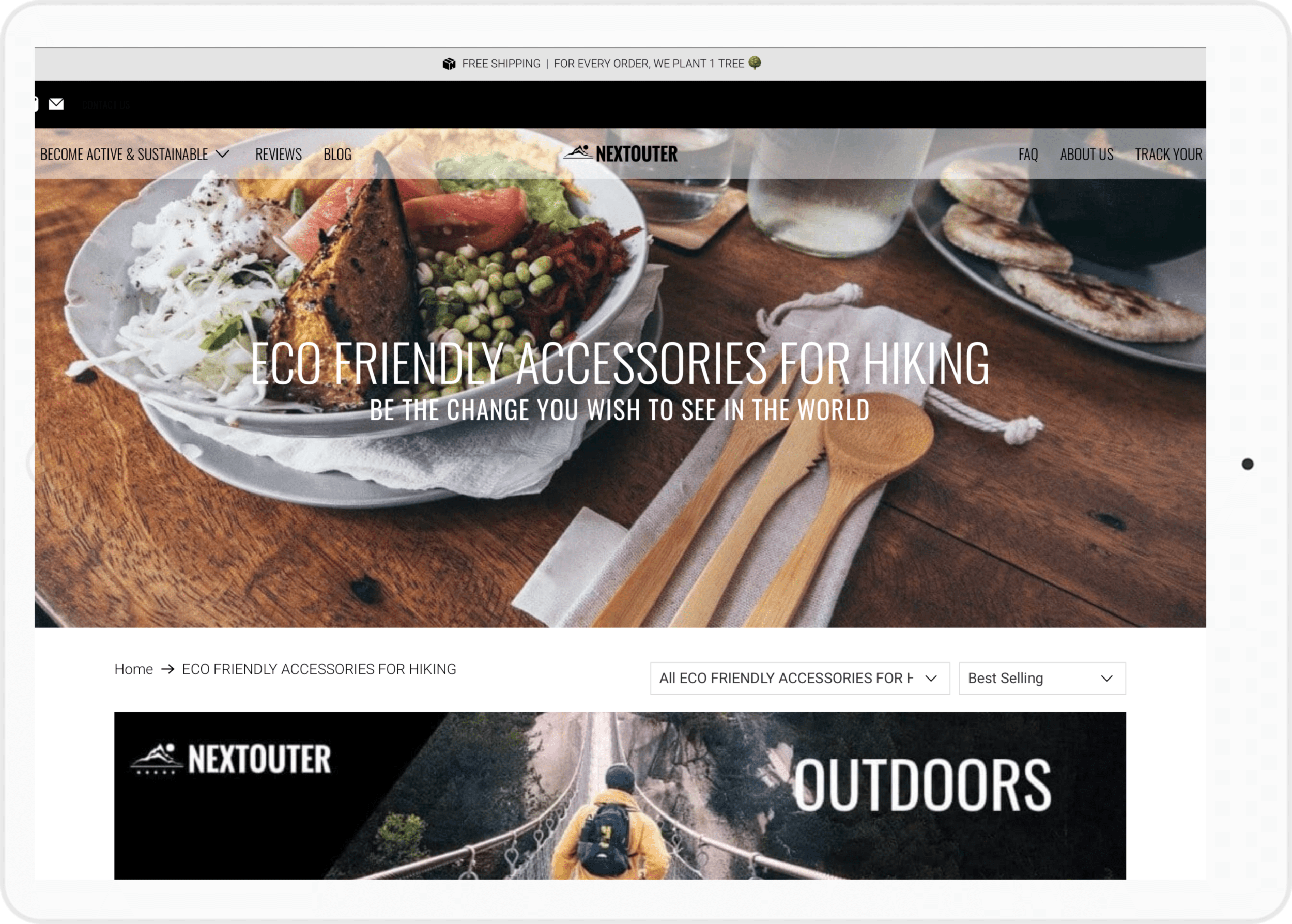 Web design services for outdoors companies